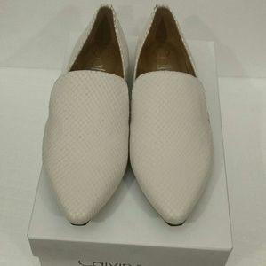 570c1ba9583 Calvin Klein Shoes - 💞Calvin Klein Elin Matte Cut Snake White Sz6